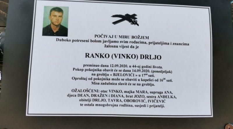 U Kreševu poginuo radnik Ranko Drlja