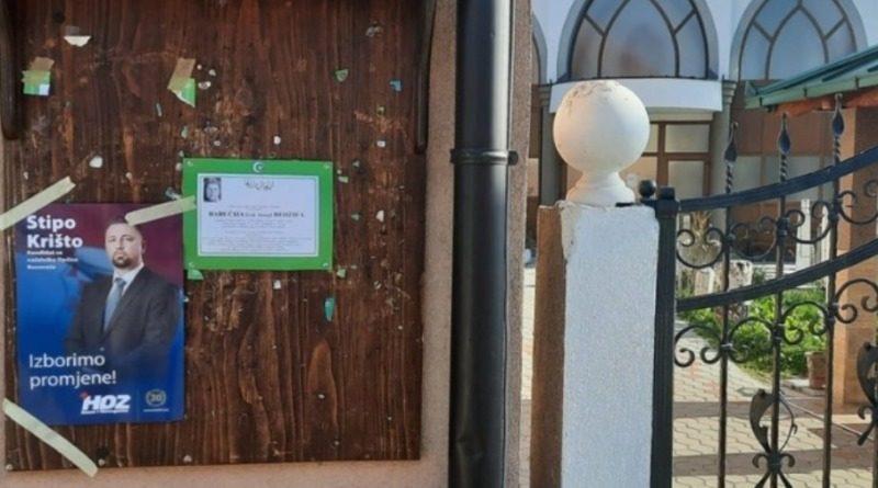 HDZ u Busovači zalijepio plakat na džamijsku oglasnu tablu, reagirao glavni imam