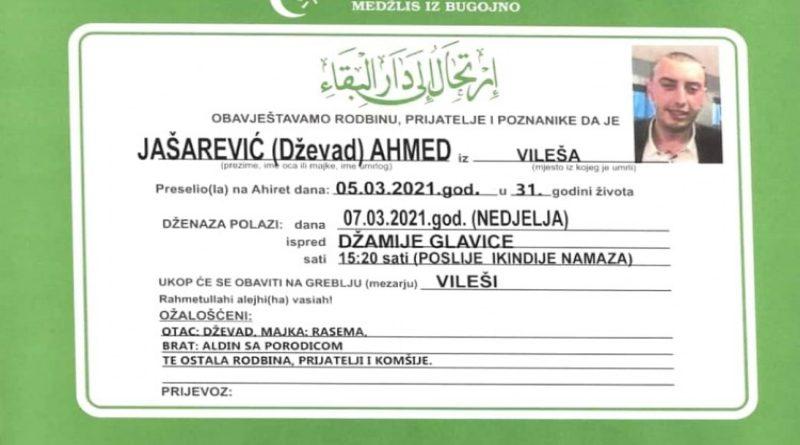 Sutra dženaza mladiću koji je poginuo u stravičnoj nesreći u Bugojnu