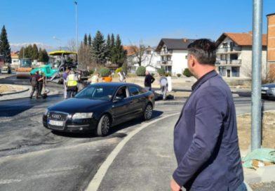 S nagovještajem proljeća u Vitezu završeno asfaltiranje kružnog toka