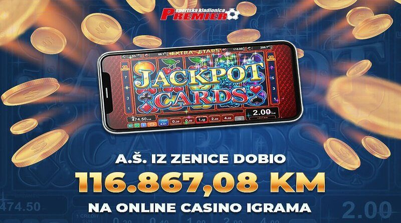 Zeničanin u Premier kladionici dobio 116.867,08 KM na online casino igrama